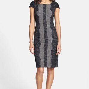 Betsey Johnson lace paneled sheath dress
